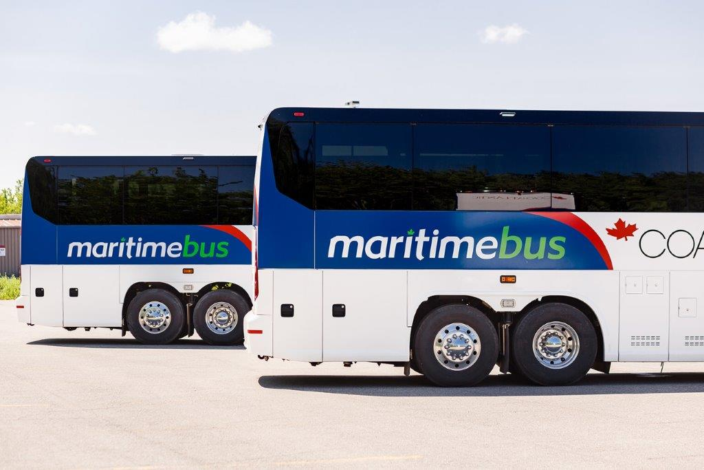End of two Maritime Bus Motorcoaches